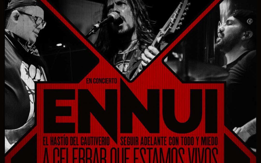 ENNUI, el power trío de rock con matices de grunge y metal lanza su circuito de actividades después de un año de su último show en vivo